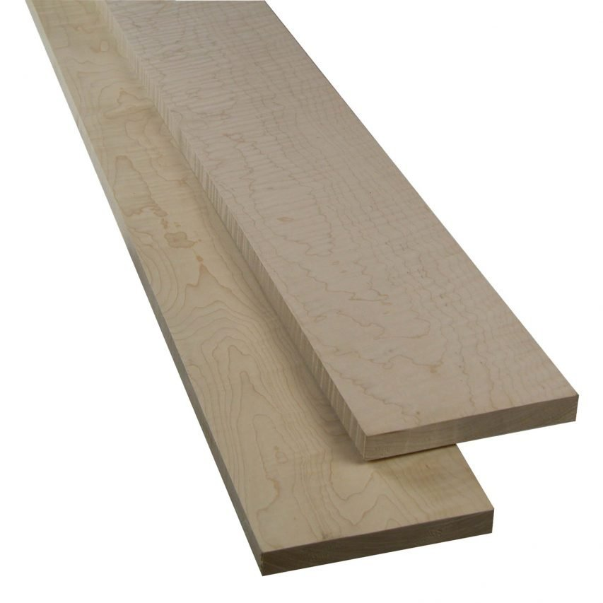 4/4 Curly Hard Maple 10 bd. ft. Value Pack