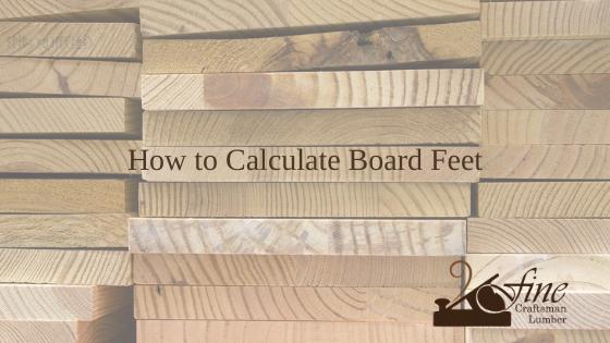 How to calculate board feet